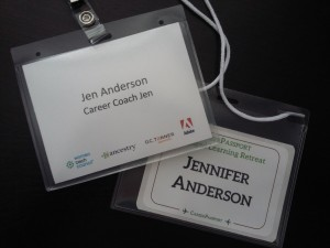 Keep the name badges from conferences - a fun way to look back on all the events you've attended!