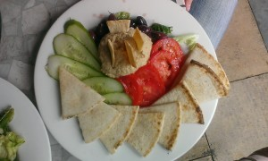 Order an appetizer as your lunch...