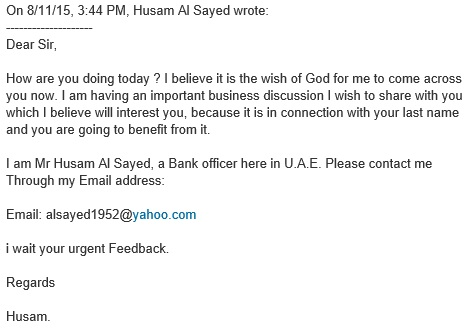 Special bank offer in LinkedIn message