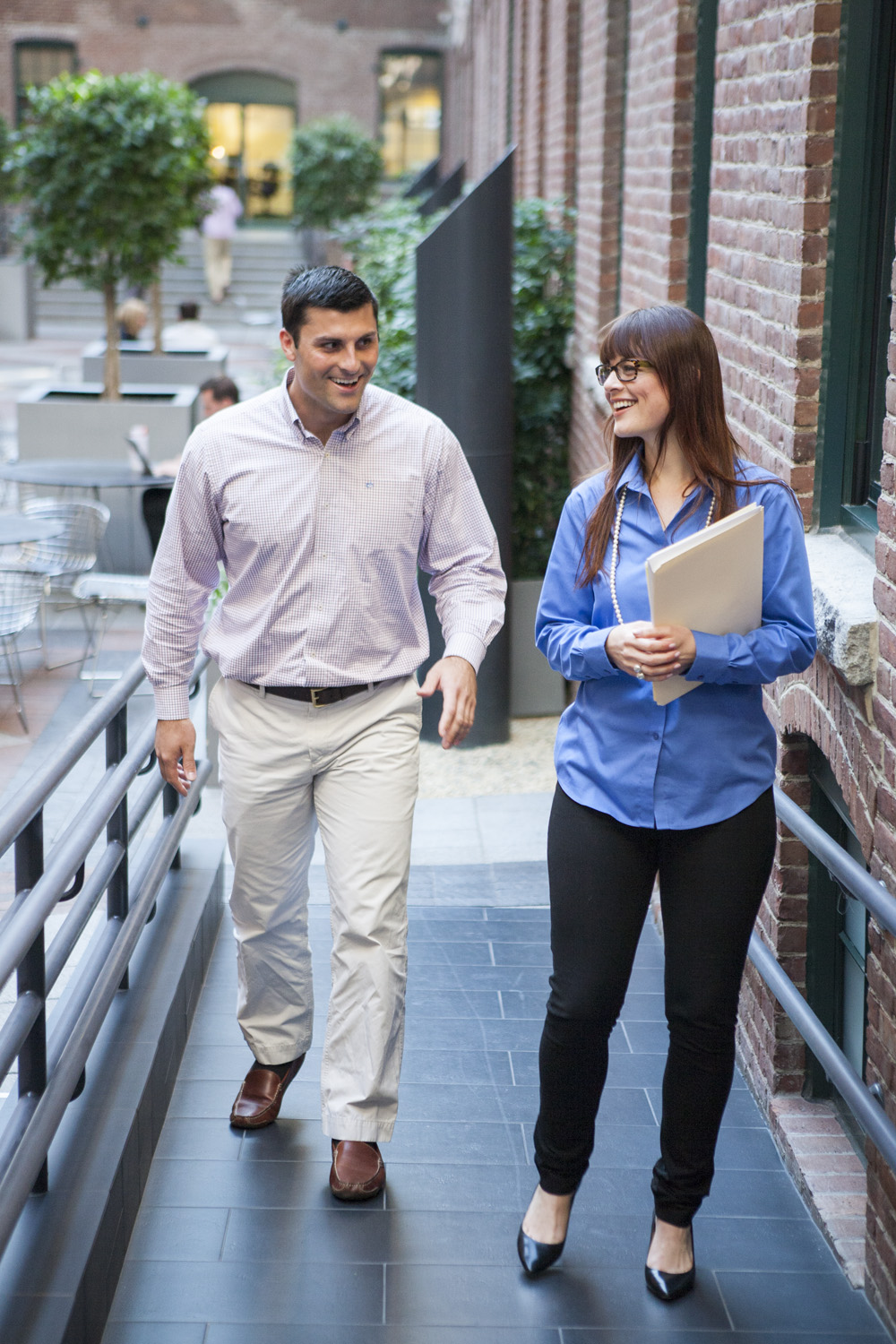 Take a walk with your team members for one-on-one meetings